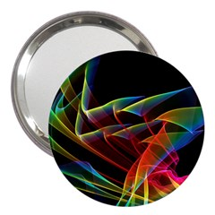 Dancing Northern Lights, Abstract Summer Sky  3  Handbag Mirror