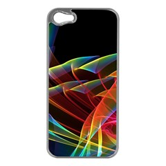 Dancing Northern Lights, Abstract Summer Sky  Apple iPhone 5 Case (Silver)