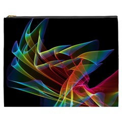 Dancing Northern Lights, Abstract Summer Sky  Cosmetic Bag (XXXL)