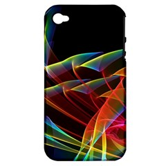 Dancing Northern Lights, Abstract Summer Sky  Apple Iphone 4/4s Hardshell Case (pc+silicone)