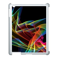 Dancing Northern Lights, Abstract Summer Sky  Apple iPad 3/4 Case (White)