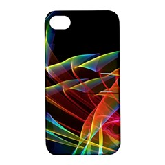 Dancing Northern Lights, Abstract Summer Sky  Apple Iphone 4/4s Hardshell Case With Stand
