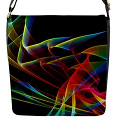 Dancing Northern Lights, Abstract Summer Sky  Flap Closure Messenger Bag (Small)