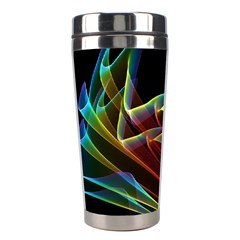 Dancing Northern Lights, Abstract Summer Sky  Stainless Steel Travel Tumbler