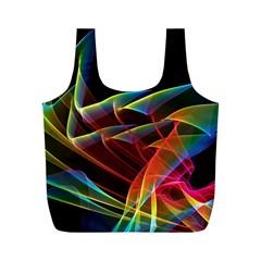 Dancing Northern Lights, Abstract Summer Sky  Reusable Bag (M)