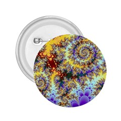 Desert Winds, Abstract Gold Purple Cactus  2 25  Button