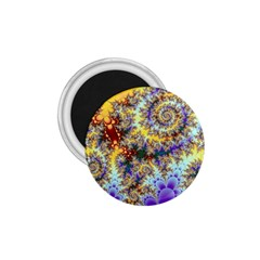 Desert Winds, Abstract Gold Purple Cactus  1.75  Button Magnet