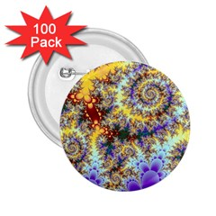 Desert Winds, Abstract Gold Purple Cactus  2.25  Button (100 pack)