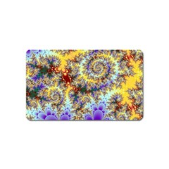 Desert Winds, Abstract Gold Purple Cactus  Magnet (Name Card)