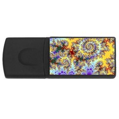 Desert Winds, Abstract Gold Purple Cactus  1GB USB Flash Drive (Rectangle)