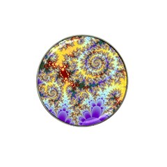Desert Winds, Abstract Gold Purple Cactus  Golf Ball Marker (for Hat Clip)