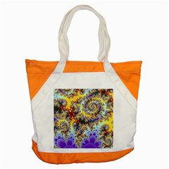 Desert Winds, Abstract Gold Purple Cactus  Accent Tote Bag