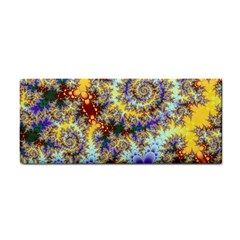 Desert Winds, Abstract Gold Purple Cactus  Hand Towel