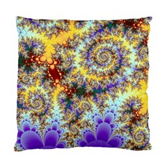 Desert Winds, Abstract Gold Purple Cactus  Cushion Case (Two Sided)