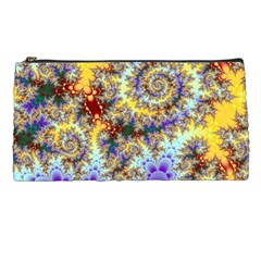 Desert Winds, Abstract Gold Purple Cactus  Pencil Case