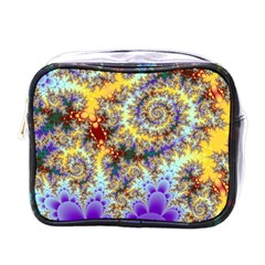 Desert Winds, Abstract Gold Purple Cactus  Mini Travel Toiletry Bag (one Side)