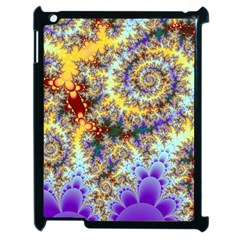 Desert Winds, Abstract Gold Purple Cactus  Apple iPad 2 Case (Black)