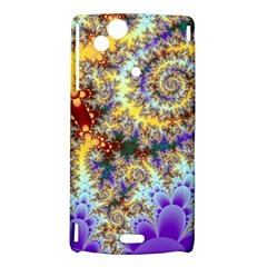 Desert Winds, Abstract Gold Purple Cactus  Sony Xperia Arc Hardshell Case