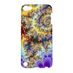 Desert Winds, Abstract Gold Purple Cactus  Apple Ipod Touch 5 Hardshell Case