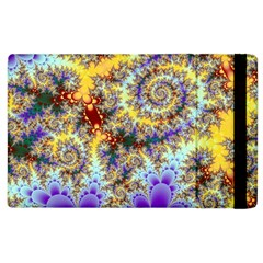 Desert Winds, Abstract Gold Purple Cactus  Apple iPad 2 Flip Case