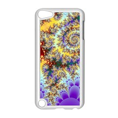 Desert Winds, Abstract Gold Purple Cactus  Apple Ipod Touch 5 Case (white)