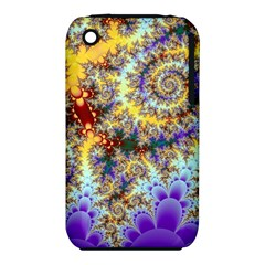 Desert Winds, Abstract Gold Purple Cactus  Apple iPhone 3G/3GS Hardshell Case (PC+Silicone)