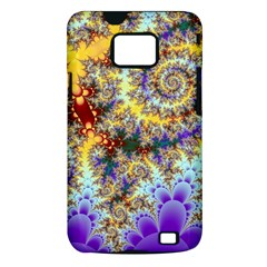 Desert Winds, Abstract Gold Purple Cactus  Samsung Galaxy S II i9100 Hardshell Case (PC+Silicone)