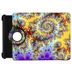 Desert Winds, Abstract Gold Purple Cactus  Kindle Fire Hd 7  (1st Gen) Flip 360 Case