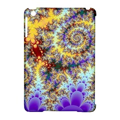 Desert Winds, Abstract Gold Purple Cactus  Apple iPad Mini Hardshell Case (Compatible with Smart Cover)