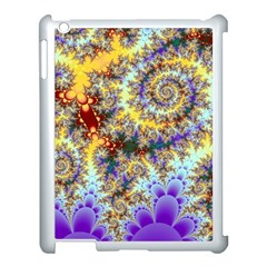 Desert Winds, Abstract Gold Purple Cactus  Apple iPad 3/4 Case (White)
