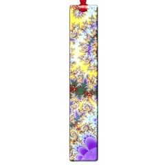Desert Winds, Abstract Gold Purple Cactus  Large Bookmark