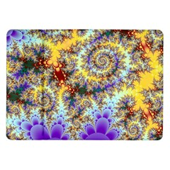Desert Winds, Abstract Gold Purple Cactus  Samsung Galaxy Tab 10.1  P7500 Flip Case
