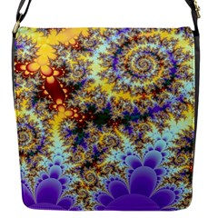 Desert Winds, Abstract Gold Purple Cactus  Flap Closure Messenger Bag (Small)