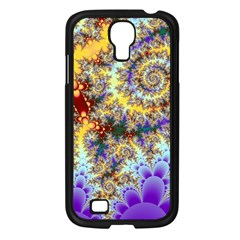 Desert Winds, Abstract Gold Purple Cactus  Samsung Galaxy S4 I9500/ I9505 Case (Black)