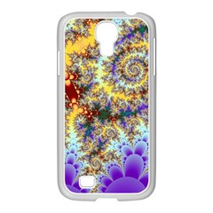 Desert Winds, Abstract Gold Purple Cactus  Samsung Galaxy S4 I9500/ I9505 Case (white)