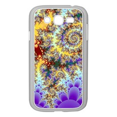 Desert Winds, Abstract Gold Purple Cactus  Samsung Galaxy Grand DUOS I9082 Case (White)