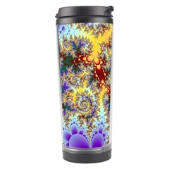Desert Winds, Abstract Gold Purple Cactus  Travel Tumbler