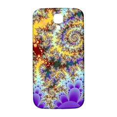 Desert Winds, Abstract Gold Purple Cactus  Samsung Galaxy S4 I9500/I9505  Hardshell Back Case