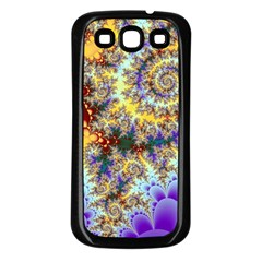Desert Winds, Abstract Gold Purple Cactus  Samsung Galaxy S3 Back Case (Black)