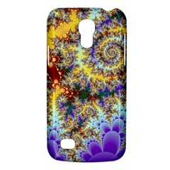 Desert Winds, Abstract Gold Purple Cactus  Samsung Galaxy S4 Mini (GT-I9190) Hardshell Case