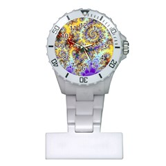 Desert Winds, Abstract Gold Purple Cactus  Nurses Watch