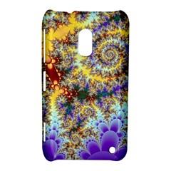 Desert Winds, Abstract Gold Purple Cactus  Nokia Lumia 620 Hardshell Case