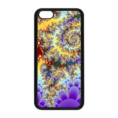 Desert Winds, Abstract Gold Purple Cactus  Apple Iphone 5c Seamless Case (black)