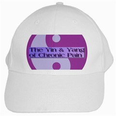 Yin & Yang Of Chronic Pain White Baseball Cap