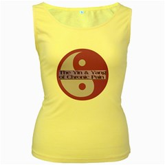 Yin & Yang Of Chronic Pain Women s Tank Top (Yellow)