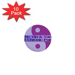 Yin & Yang Of Chronic Pain 1  Mini Button (10 pack)