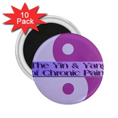 Yin & Yang Of Chronic Pain 2.25  Button Magnet (10 pack)