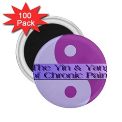 Yin & Yang Of Chronic Pain 2.25  Button Magnet (100 pack)