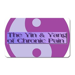 Yin & Yang Of Chronic Pain Magnet (Rectangular)