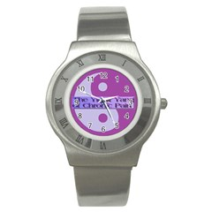 Yin & Yang Of Chronic Pain Stainless Steel Watch (Slim)